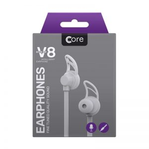 Earphones Core V8 White