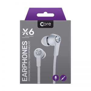 Earphones Core X6 White