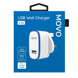MOVO Phone Tablet Charger USB 2.4A