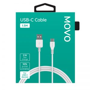 MOVO USB-C Cable 150cm Fast Charge White