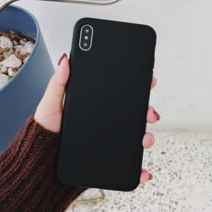 Black Ultra thin Solid Color Cases For Samsung A20e