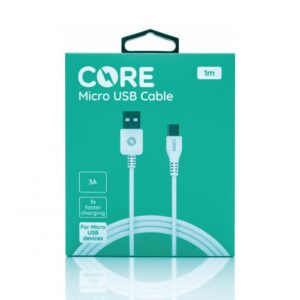 CORE Micro USB Cable 150cm Fast Charge White