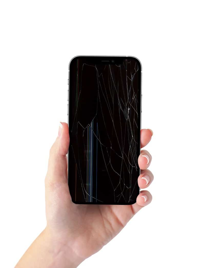 iPhone 12 mockup broken screen Phones Rescue